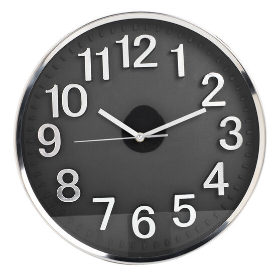 London Drugs Wall Clock - Brisbane - Silver/Black