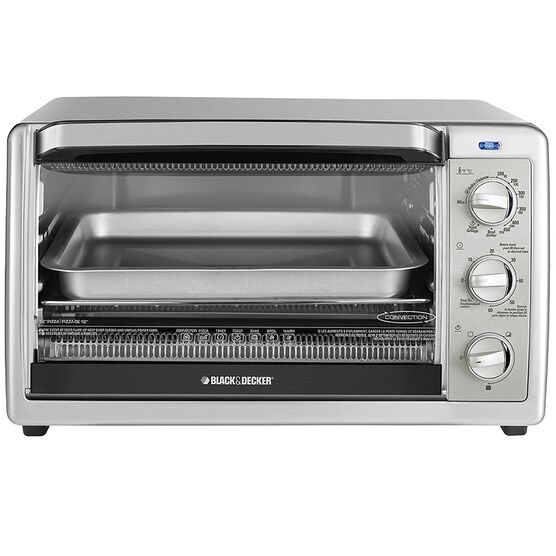 Black and Decker 6 Slice Convection Oven - Stainless Steel - TO1655SC
