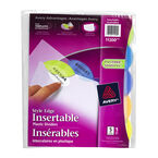 Avery Style Edge Insertable Plastic Dividers - 5-Tab set - 11200