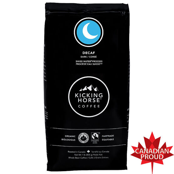 Kicking Horse Organic Whole Bean Dark Coffee - Decaf - 454g
