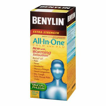 Benylin All-In-One Cold & Flu - Extra Strength - 250ml