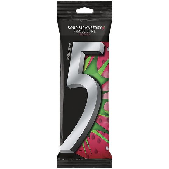 Wrigley 5 Gum - Sour Strawberry - 3 pack