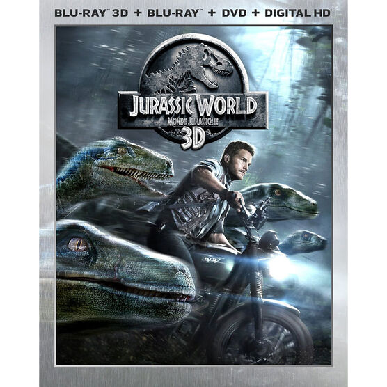 Jurassic World 3D - 3D Blu-ray + Blu-ray + DVD + Digital