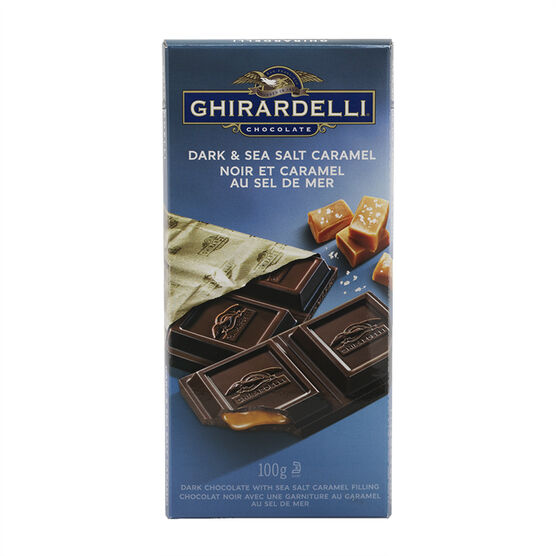 Ghirardelli Dark & Sea Salt Caramel - 100g