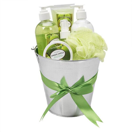 BodyCaress Bath Gift Tin - Green Apple - 6 piece