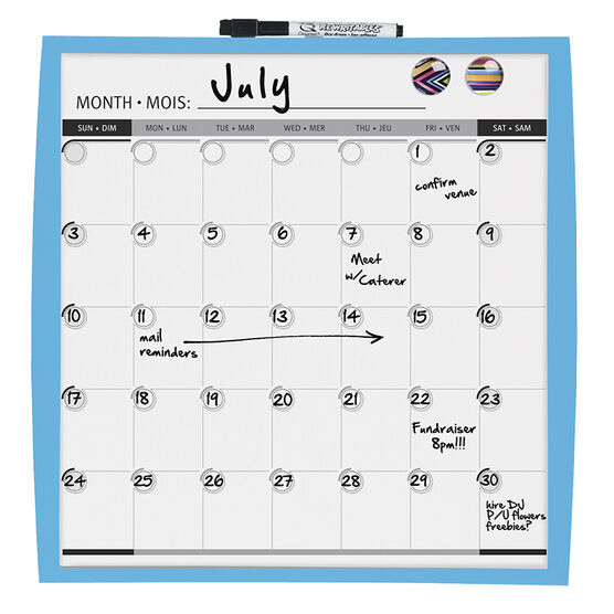 Quartet Calendar Board - 14x14 inches