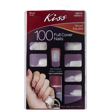Kiss Full Cover Nails - Short Square - 100's