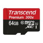 Transcend 300X 64GB microSDXC - TS64GUSDU1