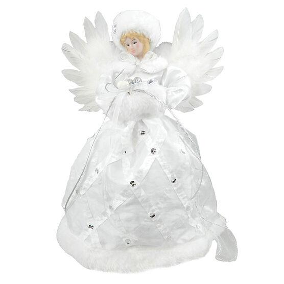 Christmas Forever Angel Tree Topper - 12in - White - XM-VW1340