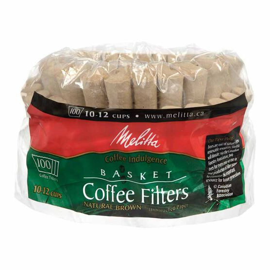 Melitta Basket Coffee Filters - Natural Brown - 100's