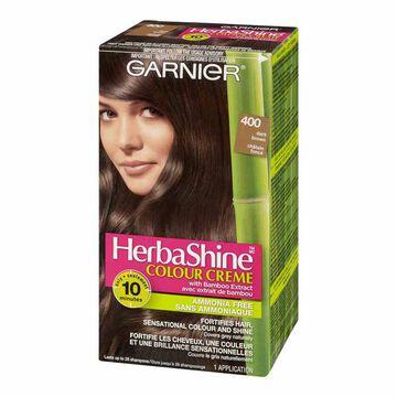 Garnier HerbaShine Colour Creme with Bamboo Extract - 400 Dark Brown