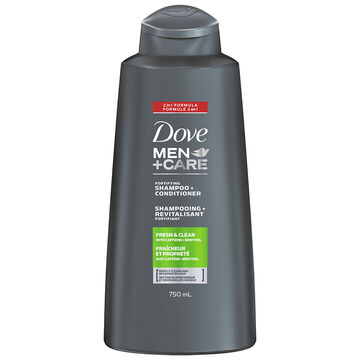 Dove Men+Care Fortifying Shampoo + Conditioner 2in1- Fresh Clean - 750ml