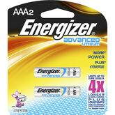 Energizer Advanced Lithium AAA Batteries - 2 pack