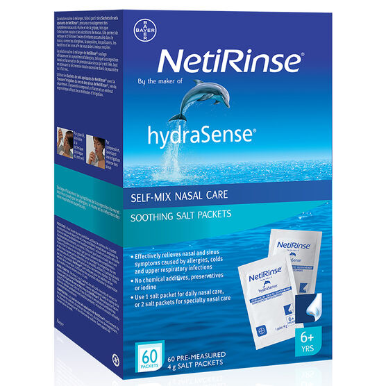 hydraSense NetiRinse Soothing Salts - 60's