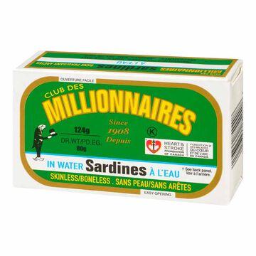 Club Des Millionaires Sardines in Water - 124g