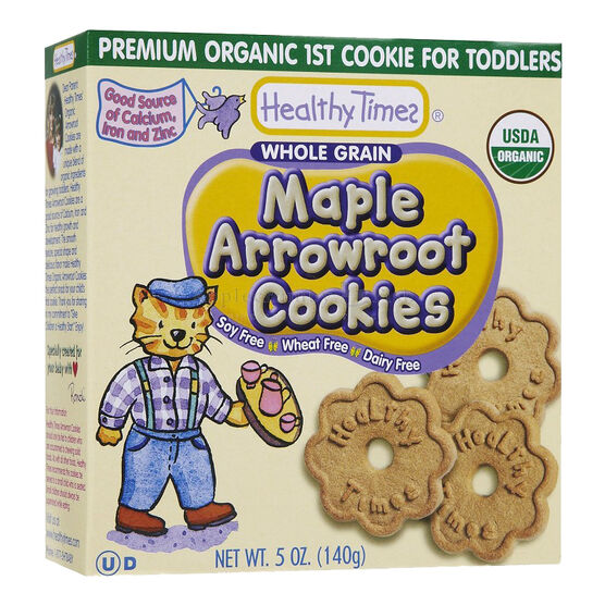 Healthy Time Organic Arrowroot Cookies - Maple - 140g