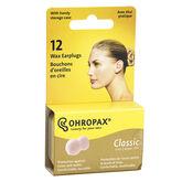 Ohropax Wax Ear Plugs - 12 Pack