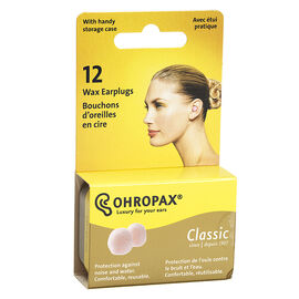 Ohropax Wax Ear Plugs - 12 Pack