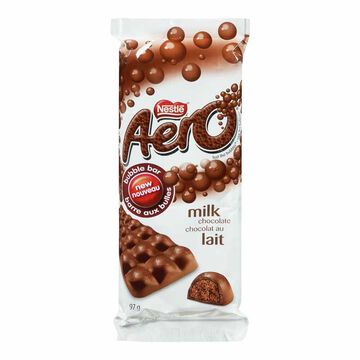 Nestle Aero Milk Chocolate Bubble Bar - 97g