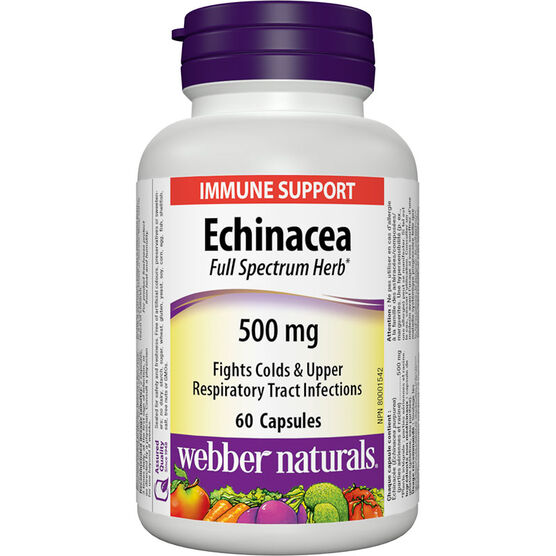 Webber Naturals Echinacea Full Spectrum Herb - 500mg - 60's