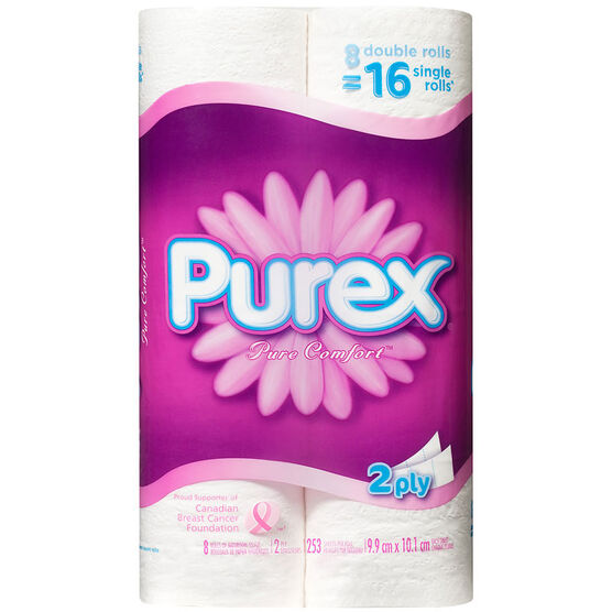 Purex Double Roll Bathroom Tissue - 8's
