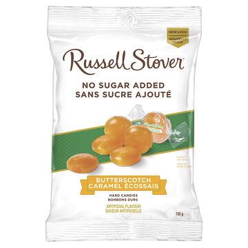 Russell Stover No Sugar Added Hard Candies - Butterscotch - 150g