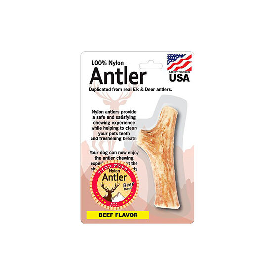 Pet Qwerks Nylon Beef Antler - Medium
