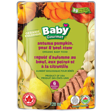 Baby Gourmet Baby Food - Autumn Pumpkin, Pear and Beef Stew - 128ml