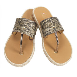 Chinese Comfort Bed Snake Sandal - Tan