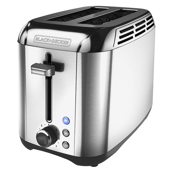 Black & Decker 2 Slice Rapid Toaster - Silver - TR3500SD