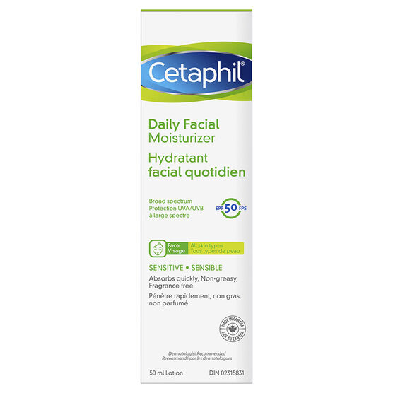 Cetaphil SPF 50 Daily Facial Moisturizer - 50ml