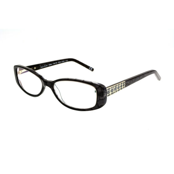Foster Grant Willow Reading Glasses - Black/Chrome - 2.00