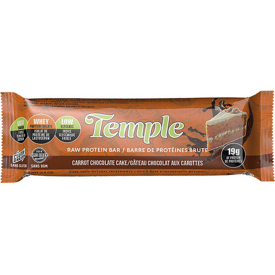 Temple Raw Protein Bar - Carrot Chocolate Cake - 70g
