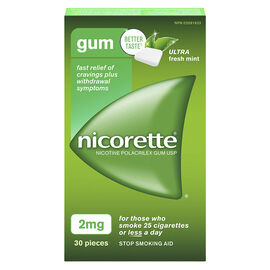 Nicorette Coated Gum with Whitening - Ice Mint - 2mg - 30's