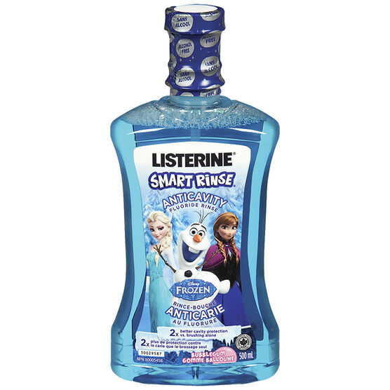 Listerine Smart Rinse AntiCavity Fluoride Rinse - Bubble Gum - 500ml