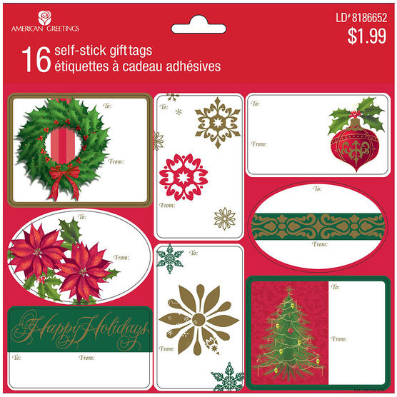 Plus Mark Frosty Gift Tags - 16s