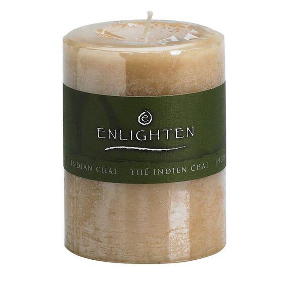 Enlighten Pillar Candle - Chai - 3x4inch