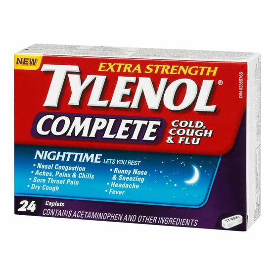 Tylenol* Complete Nighttime Extra Strength - 24's