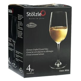 Anchor Hocking Stolzle Classic White Wine Glasses - 443.6ml - Set of 4