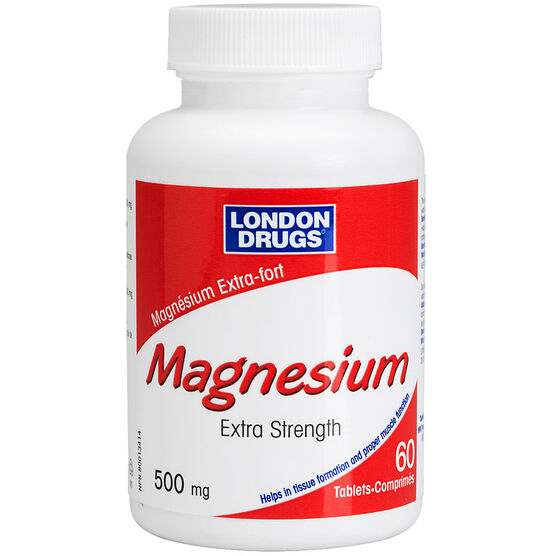 London Drugs Magnesium Extra Strength 500mg - 60's