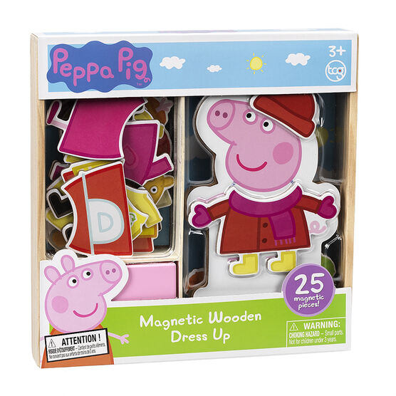 Peppa Pig Magnetic Wooden Dress up - 25 Piece