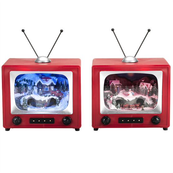 Animated LED TV with Music - 5.9in - NM-X12348BA