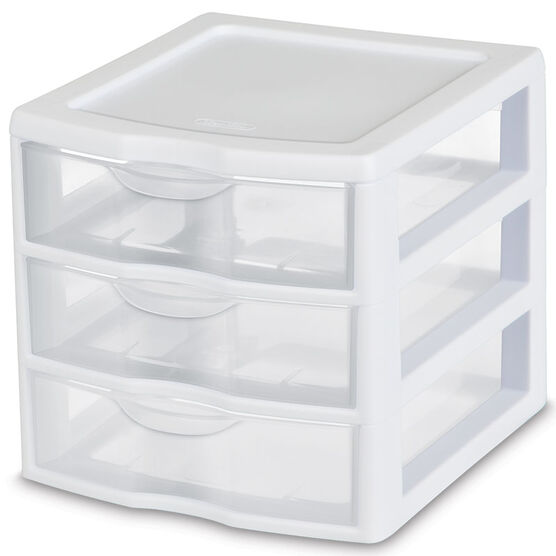 Sterilite ClearView™ 3 Drawer Unit - White