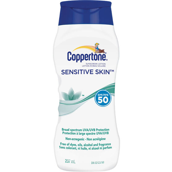 Coppertone Sensitive Skin Sunscreen Lotion - SPF50 - 237ml