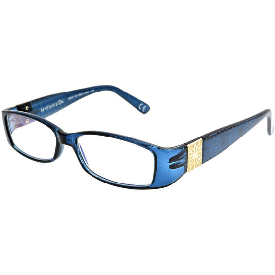 Foster Grant Posh Blue Women's Reading Glasses - 1.50