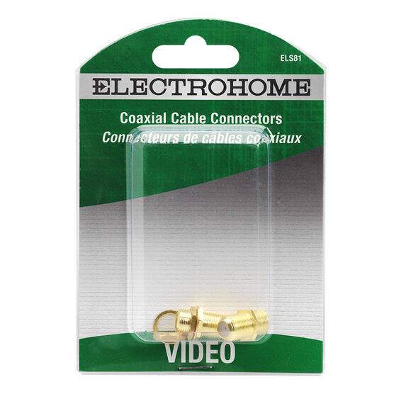 Electrohome Coaxial Cable Feed Through Connectors - ELS81