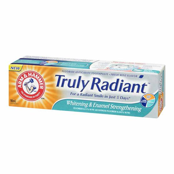 Arm & Hammer Truly Radiant Whitening & Enamel Strengthening Toothpaste - Fresh Mint - 90ml