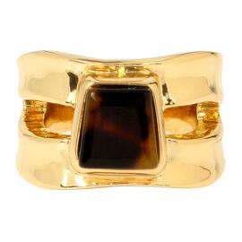 Robert Lee Morris Stone Ring - 7.5 - Tort/Gold