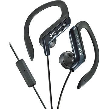JVC Sport-Clip Headphones with Remote/Mic - Black - HAEBR80B