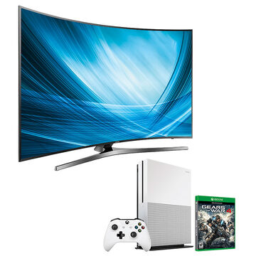 Samsung 65-in Curved UHD TV + Xbox One 1TB + Gears of War 4 Package - PKG #30669